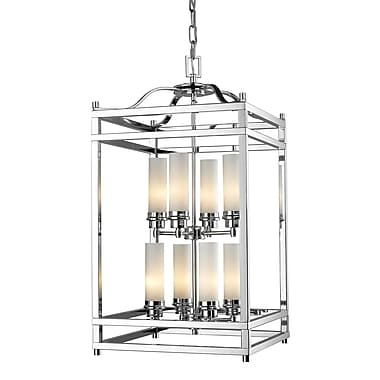 Z-Lite Altadore (180-8) - Suspension à huit lumières, 15 po x 15 po x 28,75 po, chrome