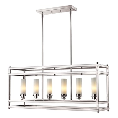 Z-Lite Altadore (182-6) - Suspension à six lumières, 35 po x 9,88 po x 85,88 po, nickel brossé