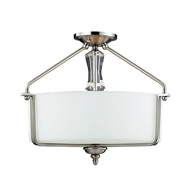 Z-Lite Avignon (2000SF) 3 Light Semi-Flush Mount, 18.75