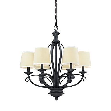 Z-Lite Charleston (2001-6) 6 Light Chandelier, 26.25
