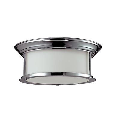 Z-Lite Sonna (2003F16-CH) - Plafonnier à trois lumières, 15,5 po x 6 po, chrome