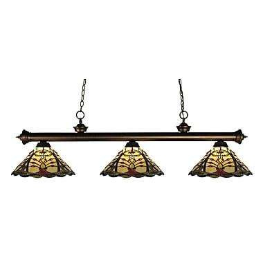 Z-Lite Riviera (200-3OB-Z14-46) - Luminaire de billard à trois lumières, 57 po x 14 po x 16 po, bronze ancien