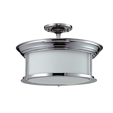 Z-Lite Sonna (2003SF-CH) 3 Light Semi-Flush Mount, 15.5