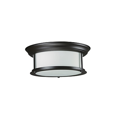 Z-Lite Sonna (2004F13-BRZ) 2 Light Ceiling, 13.25