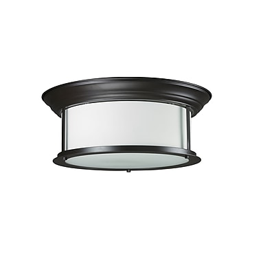 Z-Lite Sonna (2004F16-BRZ) 3 Light Ceiling, 15.5
