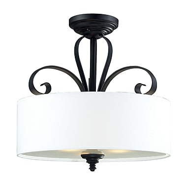 Z-Lite Charleston (2007SF) 3 Light Semi-Flush Mount, 17.88