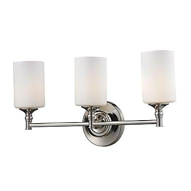 Z-Lite Cannondale (2103-3V) - Luminaire pour salle de bains à trois lumières, 5,5 po x 22 po x 11 po, chrome
