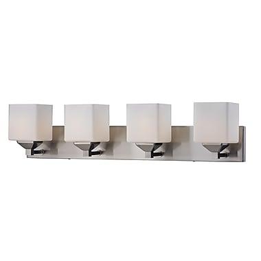 Z-Lite Quube (2104-4V) - Luminaire pour salle de bains à quatre lumières, 6 po x 30 po x 6,75 po