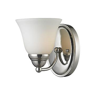 Z-Lite Athena (2108-1V) - Luminaire pour salle de bains à une lumière, 7,75 po x 5,5 po x 6,5 po, chrome