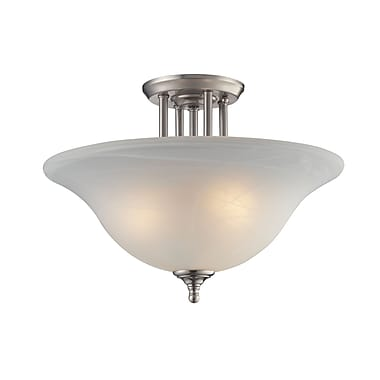 Z-Lite Athena (2110SF) 3 Light Semi-Flush Mount, 15.75