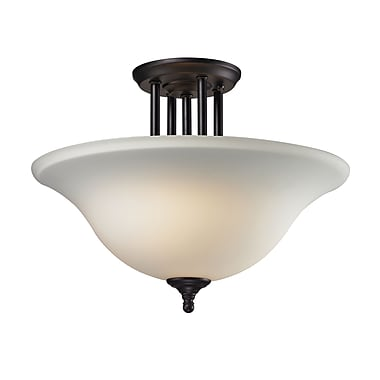 Z-Lite Athena (2112SF) 3 Light Semi-Flush Mount, 15.75