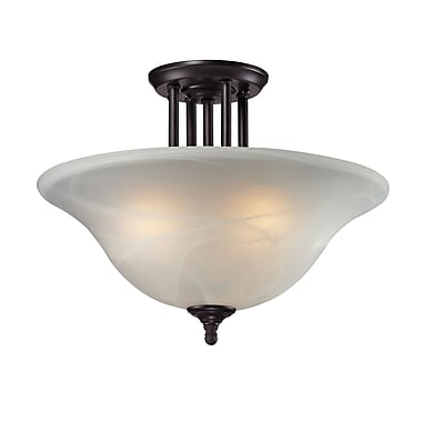 Z-Lite Athena (2113SF) 3 Light Semi-Flush Mount, 15.75