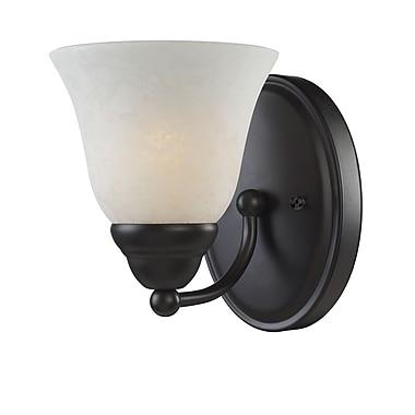Z-Lite Athena (2116-1V) - Luminaire pour salle de bains à une lumière, 7,75 po x 5,5 po x 6,5 po, bronze