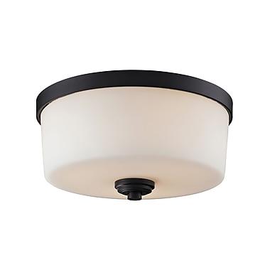 Z-Lite Arlington (220F3) - Lampe encastrée à trois lumières, 13,88 po x 6,38 po, bronze