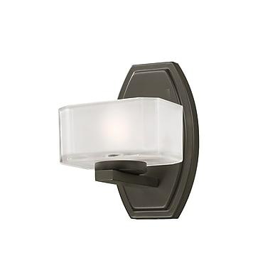 Z-Lite Cabro (3009-1V) - Luminaire pour salle de bains à une lumière, 5,88 po x 5,5 po x 8 po, bronze peint