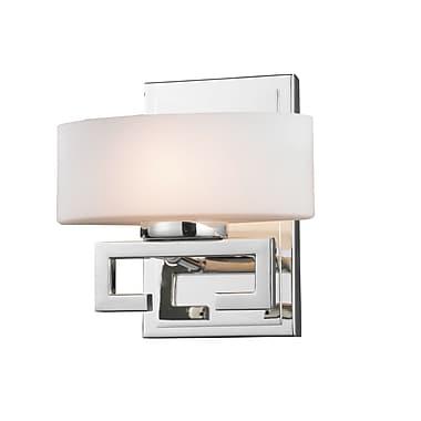 Z-Lite Cetynia (3011-1V) - Luminaire pour salle de bains à une lumière, 5,38 po x 7,5 po x 8 po, chrome
