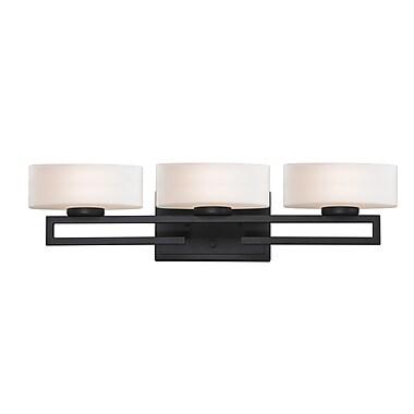 Z-Lite Cetynia (3012-3V) - Luminaire pour salle de bains à trois lumières, 5,63 po x 24,38 po x 5,88 po, bronze peint