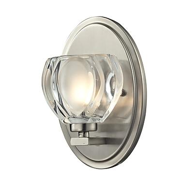 Z-Lite Hale (3022-1V) - Luminaire pour salle de bains à une lumière, 3,75 po x 5 po x 8 po, nickel brossé