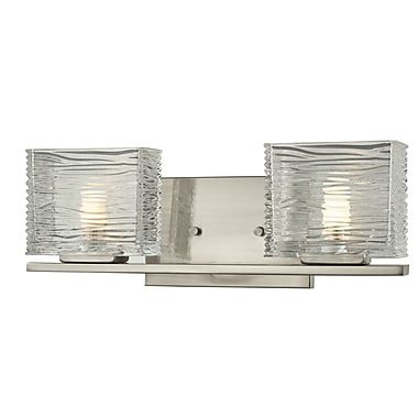 Z-Lite Jaol (3024-2V) - Luminaire pour salle de bains à deux lumières, 3,75 po x 15,25 po x 5,63 po