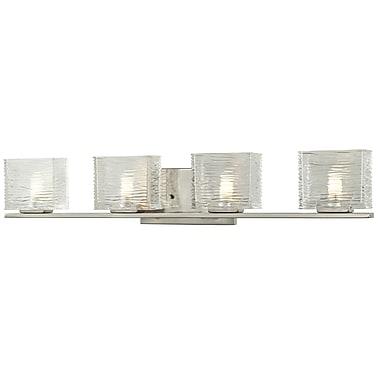 Z-Lite Jaol (3024-4V) - Luminaire pour salle de bains à quatre lumières, 3,75 po x 31,13 po x 5,63 po