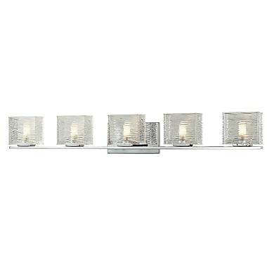 Z-Lite Jaol (3025-5V) 5 Light Vanity Light, 3.75