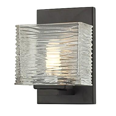 Z-Lite Jaol (3026-1V) - Luminaire pour salle de bains à une lumière, 3,75 po x 5,25 po x 7,13 po, bronze