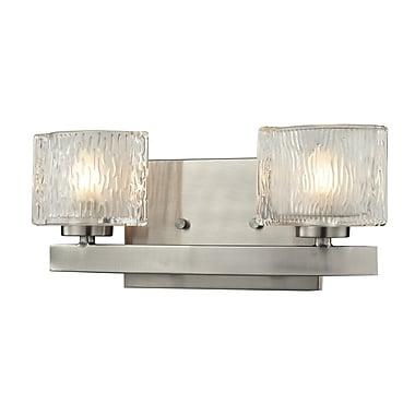 Z-Lite Rai (3027-2V) - Luminaire pour salle de bains à deux lumières, 3,63 po x 12,5 po x 5,38 po