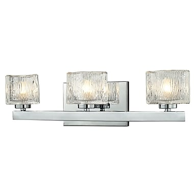 Z-Lite Rai (3028-3V) - Luminaire pour salle de bains à trois lumières, 3,63 po x 20 po x 5,38 po, chrome