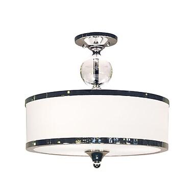 Z-Lite Cosmopolitan (307SF-CH) 3 Light Semi Flush Mount, 15.5