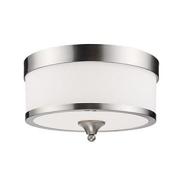 Z-Lite Cosmopolitan (308F-BN) 3 Light Flush Mount, 13