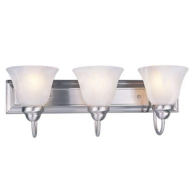 Z-Lite Lexington (311-3V-NB) - Luminaire pour salle de bains à trois lumières, 8,75 po x 24 po x 9 po, nickel brossé