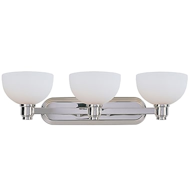 Z-Lite Chelsey (314-3V-CH) - Luminaire pour salle de bains à trois lumières, 10 po x 29 po x 7,88 po, chrome