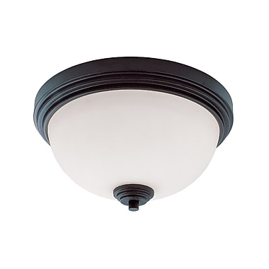 Z-Lite Chelsey (314F2-BRZ) 2 Light Flush Mount, 12