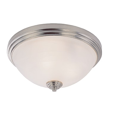 Z-Lite Chelsey (314F3-BN) 3 Light Flush Mount, 14