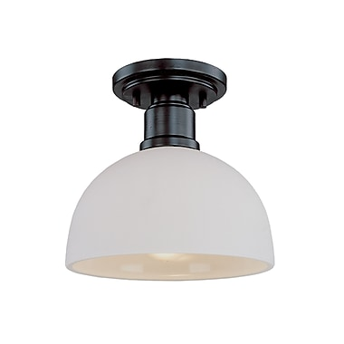 Z-Lite Chelsey (314F-BRZ) 1 Light Flush Mount, 8