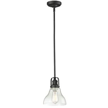 Z-Lite Forge (322-8MP-BRZ) 1 Light Mini Pendant, 7.5