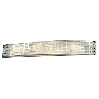 Z-Lite Elea (328-4V-CH) - Luminaire pour salle de bains à quatre lumières, 3,88 po x 34,63 po x 4,75 po, chrome