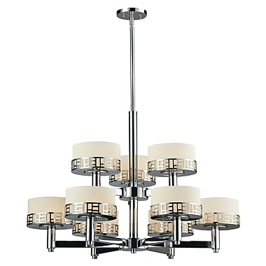 Z-Lite Elea (328-9-CH) 9 Light Chandelier, 31.75