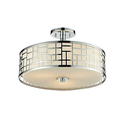 Z-Lite Elea (328-SF16-CH) - Lampe semi-encastrée à trois lumières, 16,25 po x 10,25 po, chrome