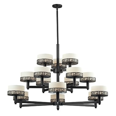 Z-Lite Elea (329-15-BRZ) 15 Light Chandelier, 48.88