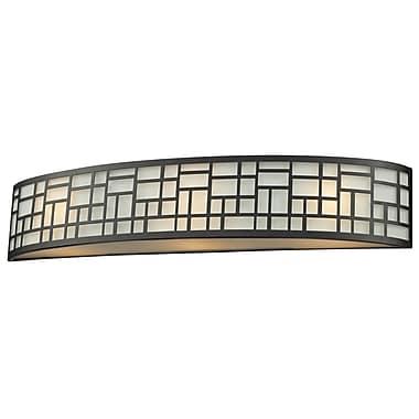 Z-Lite Elea (329-3V-BRZ) - Luminaire pour salle de bains à trois lumières, 3,88 po x 25,13 po x 4,75 po, bronze
