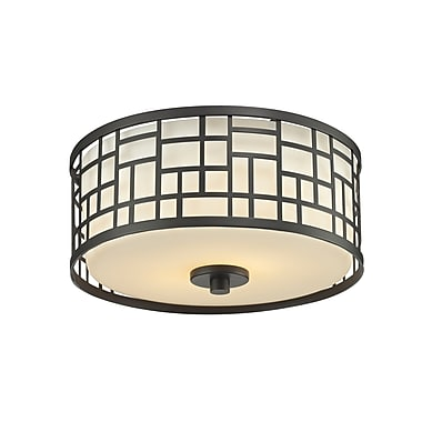 Z-Lite Elea (329F12-BRZ) 2 Light Flush Mount Light, 11.75
