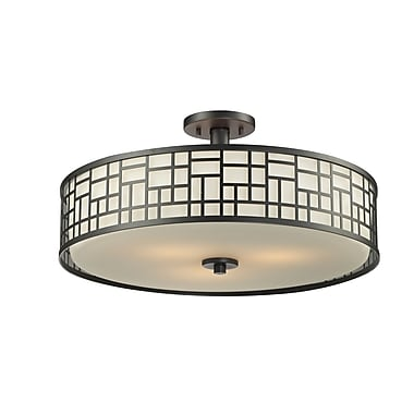 Z-Lite Elea (329-SF20-BRZ) 3 Light Semi-Flush Mount, 20.5