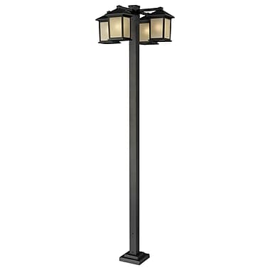 Z-Lite Holbrook (507-4-536P-ORB) 4 Head Outdoor Post, 30