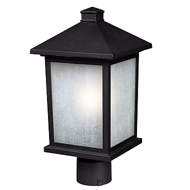 Z-Lite Holbrook (507PHB-BK) Outdoor Post Lights, 9.5
