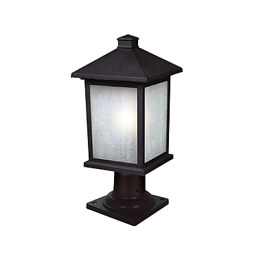 Z-Lite Holbrook (507PHM-533PM-BK) Outdoor Post Light, 8.13