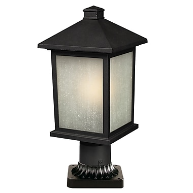 Z-Lite Holbrook (507PHM-BK-PM) Outdoor Post Light, 8