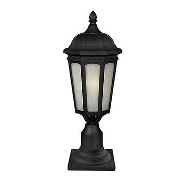 Z-Lite Newport (508PHB-533PM-BK) 1 Light Outdoor Post Mount Light, 10.38