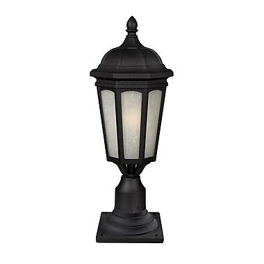 Z-Lite Newport (508PHM-533PM-BK) Outdoor Post Light, 8.25