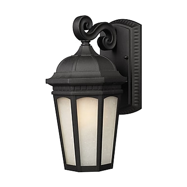 Z-Lite Newport (508S-BK) Outdoor Wall Light, 7.5